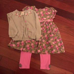 Dress, Leggings, and Sweater Bundle